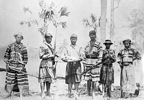 Seminole Indians hunting